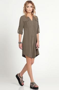 Платье Prio 160480 хаки