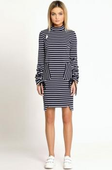 Платье Prio 168080 бело-синий