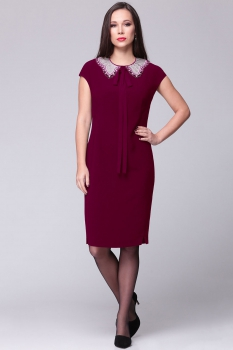 Платье Roma Moda 128М-1 бордовый