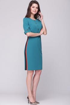 Платье Roma Moda 133М-1 бирюзовые тона