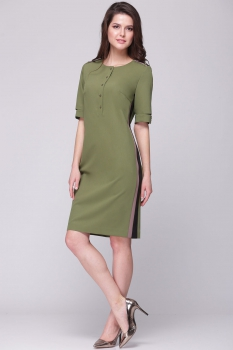 Платье Roma Moda 133М-2 оливковый
