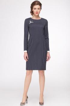 Платье Roma Moda 141М оттенки синего