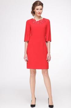 Платье Roma Moda 144М красные тона