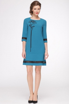 Платье Roma Moda 146М-1 бирюзовые тона