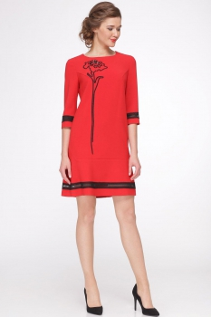 Платье Roma Moda 146М-2 красные тона