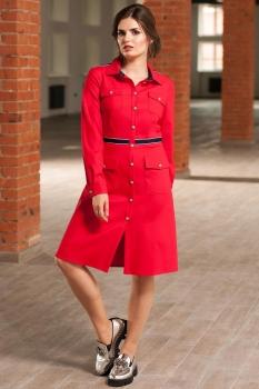 Платье Roma Moda 150М-1 оттенки красного