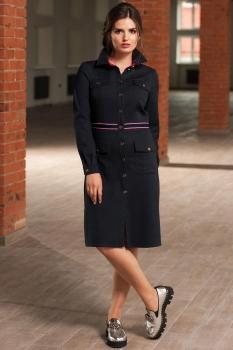 Платье Roma Moda 150М оттенки синего
