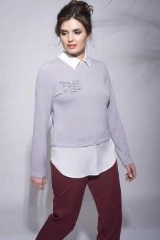 Блузка Roma Moda 432м-4 серые тона