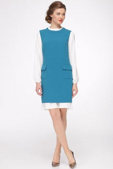 Платье Roma Moda 601М-1 бирюзовые тона