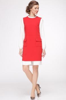 Платье Roma Moda 601М-2 красные тона