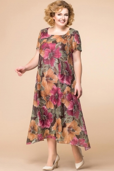 Платье Romanovich 1-1332-19 коричневый, сирень