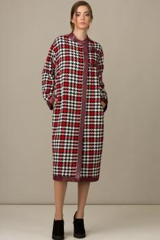 Пальто Rosheli 342 красны с белым