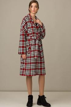 Пальто Rosheli 343-Б красный с белым