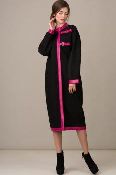 Пальто Rosheli 353 черный с розовым