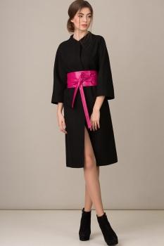 Пальто Rosheli 354 черный с розовым