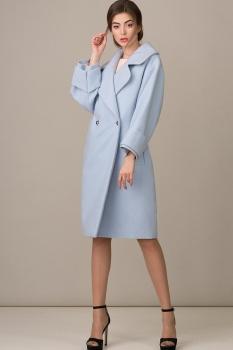 Пальто Rosheli 359-Б голубой