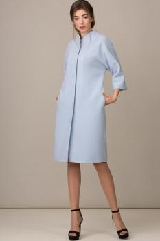 Пальто Rosheli 360-Б голубой