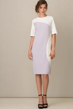 Платье Rosheli 424-Б сирень с белым