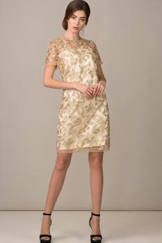Платье Rosheli 451 бежевый