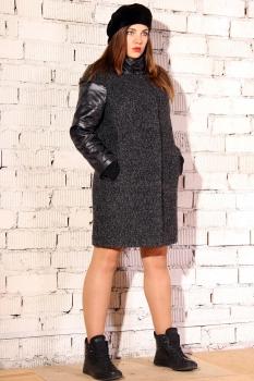 Пальто Runella 1207-1 темно-серый