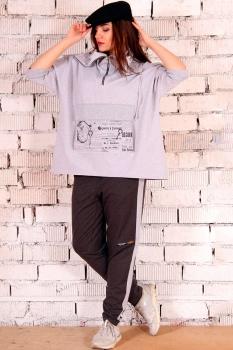 Спортивный костюм Runella 1235 серый