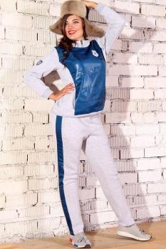 Спортивный костюм Runella 1267 серый с синим