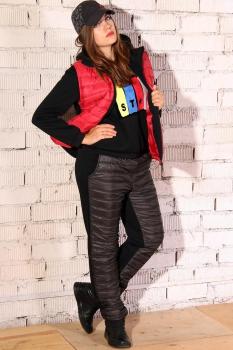 Спортивный костюм Runella 1281-1 черный с красным