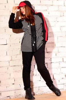 Спортивный костюм Runella 1297 с красным