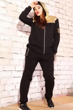 Спортивный костюм Runella 1309 черный+золото