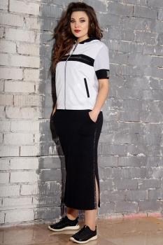 Спортивный костюм Runella 1343 черно-белый