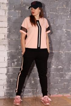 Спортивный костюм Runella 1353 нежно-розовый - фото 2