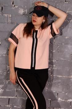 Спортивный костюм Runella 1353 нежно-розовый - фото 3