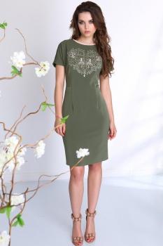Платье Sandyna 13278-2 темные тона