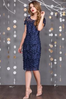 Платье Sandyna 13311-2 темно-синий