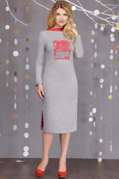 Платье Sandyna 13326 серые тона