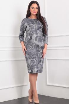 Платье Sandyna 13358 серые узоры