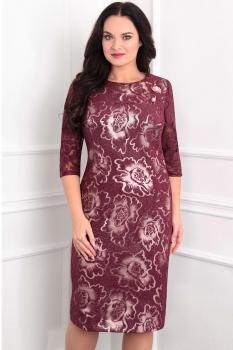 Платье Sandyna 13360-2 бордо