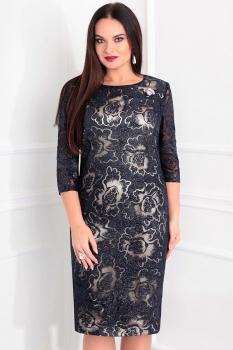 Платье Sandyna 13360 темно-синий
