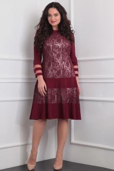Платье Sandyna 13368-2 бордо