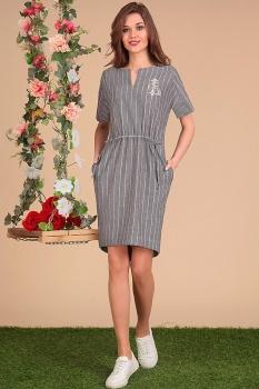Платье Sandyna 13407 серые тона