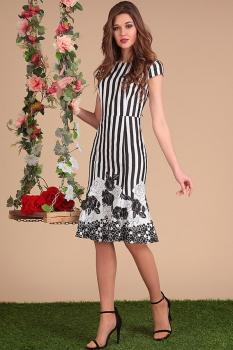 Платье Sandyna 13410 полоска