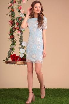 Платье Sandyna 13414-1 голубые тона