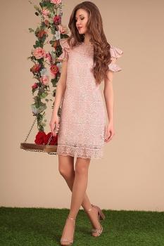 Платье Sandyna 13415 розовые тона