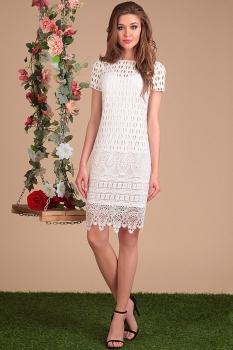Платье Sandyna 13421 светлые тона