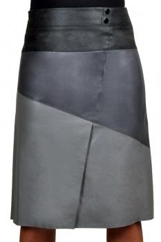 Юбка Solomea Lux 299 серо-черный