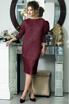 Платье Solomea Lux 410-1 бордовый