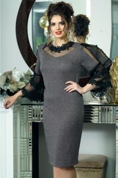 Платье Solomea Lux 414 серый