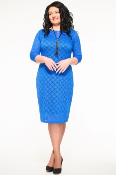 Платье Swallow 057-1 синие тона