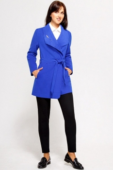 Пальто Swallow 070-2 синие тона