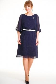 Платье Swallow 072-1 темно-синий